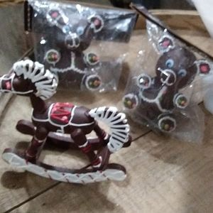 3 CHOCOLATE COVERED ORNAMENTS